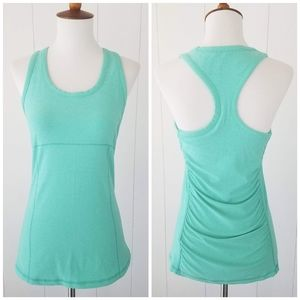 Be Maternity Ruched Racerback Tank Top